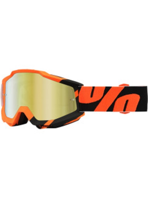 100% GOGGLE ACCURI WILDBLAST ORANGE/BLACK ANTI-FOG