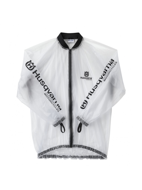 HUSQVARNA RACING RAIN JACKET TRANSPARENT
