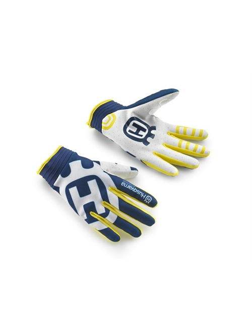 HUSQVARNA RAILED GLOVES BIANCO